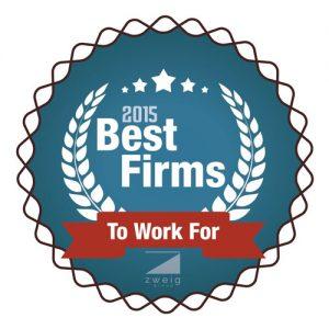 VERTEX Awarded 2015 Best Firms to Work For by Zweig Group