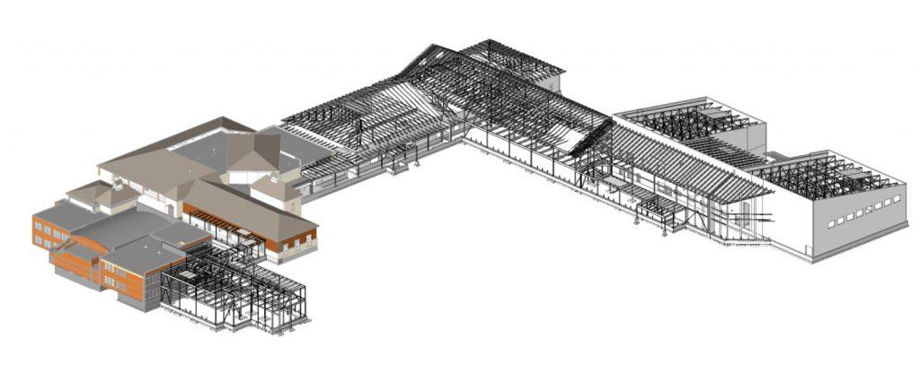 VERTEX, Structural Design Engineering, Fairplay High School Colorado, BIM Model