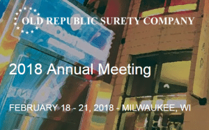 VERTEX CEO, Bill McConnell, to Present at Old Republic Surety Company 2018 Annual Meeting