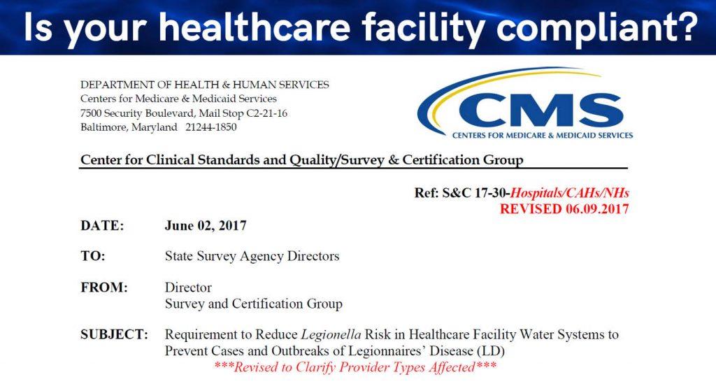 VERTEX, CMS Mandates Water Management Programs in Healthcare Facilities