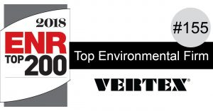 VERTEX Ranked #155 in ENR's Top 200 Environmental Firms