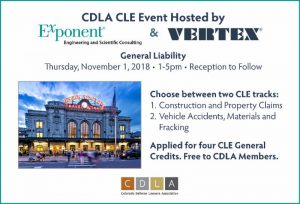 VERTEX to Co-Host CDLA CLE Event with Exponent