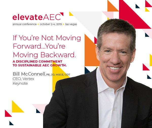 VERTEX's CEO, Bill McConnell, speaking at the Zweig Group Elevate AEC Conference 2019