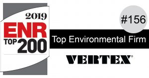 VERTEX Ranked #156 in ENR's Top 200 Environmental Firms