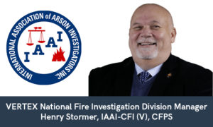 VERTEX's Henry Stormer Receives Motor Vehicle Fire Credential