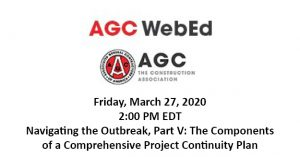 VERTEX's Jeff Katz and Bill McConnell Present to the AGC on COVID-19 Construction Impacts