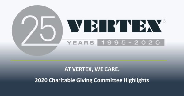 VERTEX 2020 Charitable Giving Overview