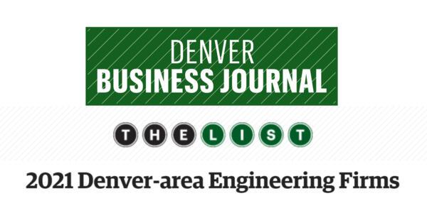 DBJ Ranks VERTEX as Top Denver Engineering Firm 2021