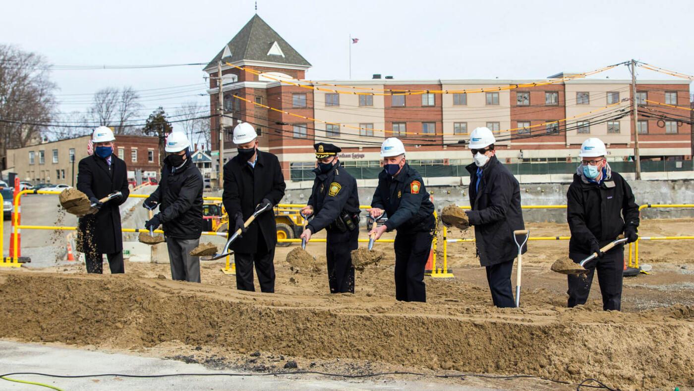 Dedham Public Safety Building Groundbreaking Ceremony, March 5, 2021