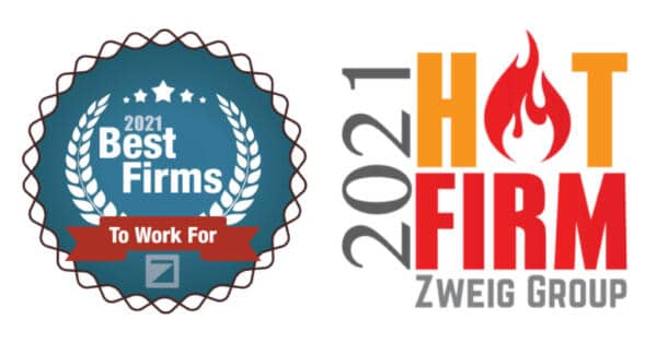 VERTEX Awarded 2021 Best Firms to Work For & Hot Firm by Zweig Group