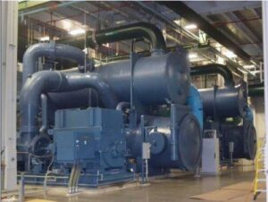 Water-cooled HVAC and process load chillers