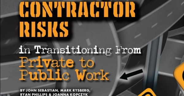 Contractor Risks in Transitioning From Private to Public Work